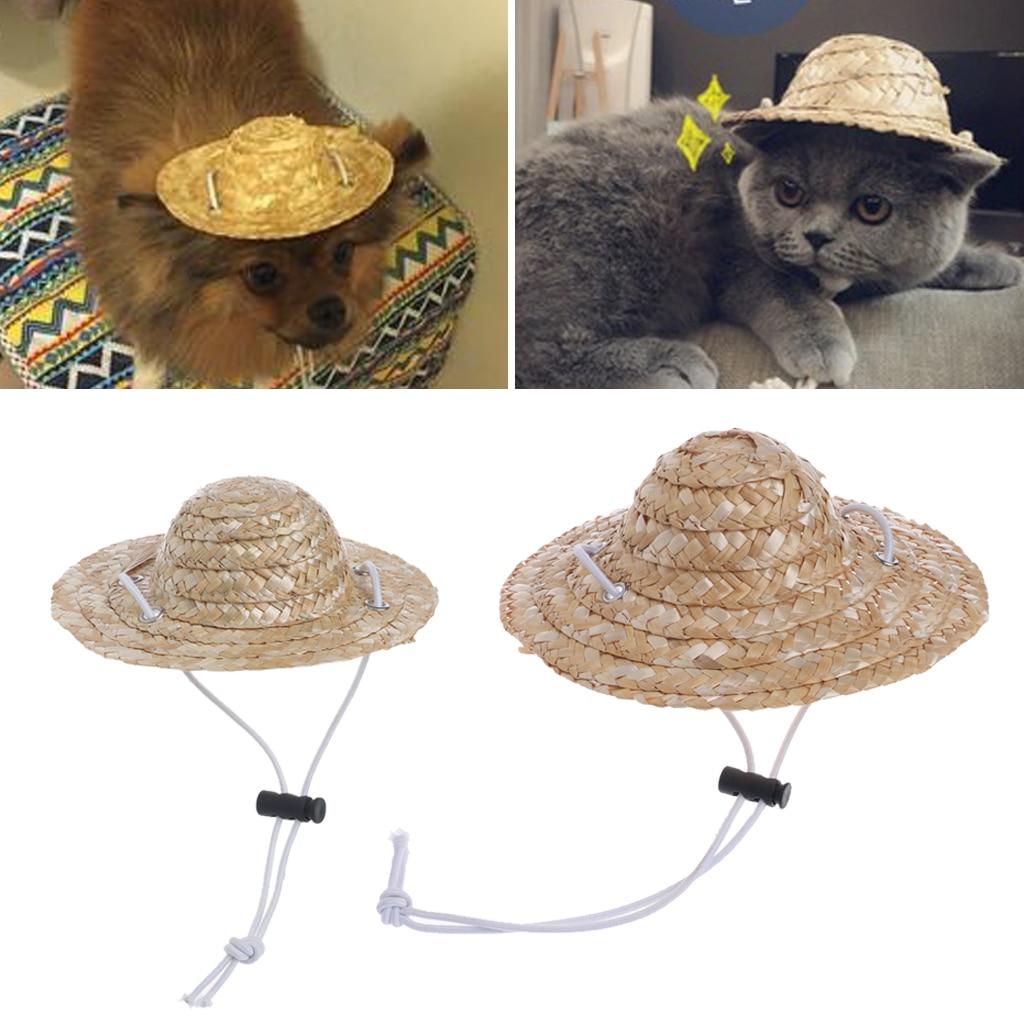 Chapéu do gato do cão do chapéu do chapéu do animal de estimação do estilo havaiano pequeno/grande diâmetro 14cm 16cm
