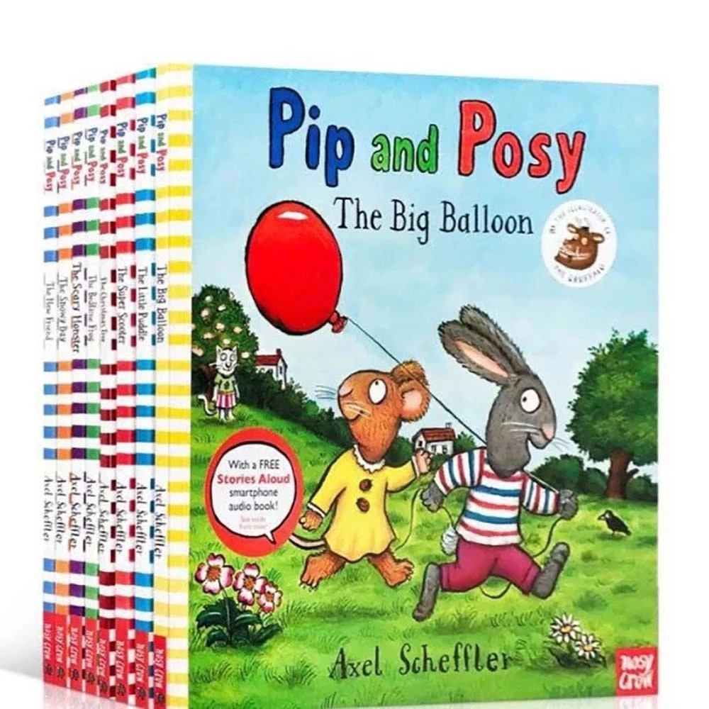 9 Volumes Pip And Posy English Original Picture Book Children's Emotional Intelligence Training Enlightenment Picture Book Child