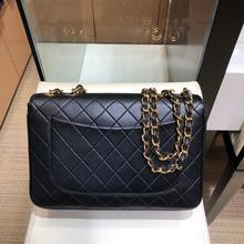 classic luxury designer import genuine leather women Vintage King size chain lady shoulder bag handb