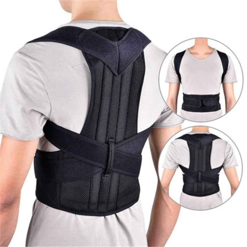 S-3XL hombre mujer ajustable magnético Corrector de postura corsé cinturón de soporte Lumbar recto Corrector modificadores cuerpo