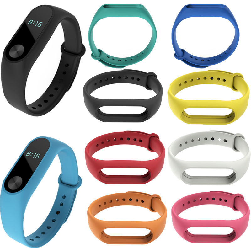 4 chigu double color accessories pulseira miband 2 strap replacement silicone wriststrap for m44258 181018 jia Mi Band 2 Wrist Strap for Xiaomi Mi Band 2 Silicone Miband 2 Replacement Wriststrap Pulsera Women Men Bracelet Accessories