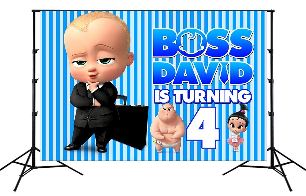 Fondo de dibujo de bebé jefe Royal Little Man Boy banderines para fiesta de cumpleaños personalizar retrato Foto fondo sesión de fotos fondo