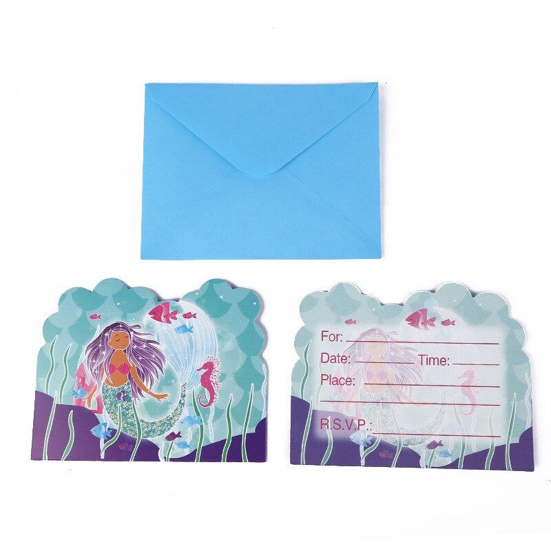 10 шт./лот, вечерние открытки на день рождения для девочек