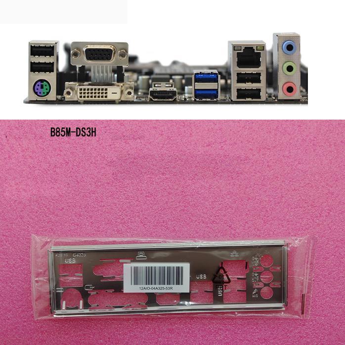 [해외] Gigabyte B85M-DS3H, GA-B85M-DS3H, GA-B360M-DS3H, GA-B150M-DS3H, GA-Z77-HD3 I/O 쉴드 백 플레이트 백 플레이트 블렌드