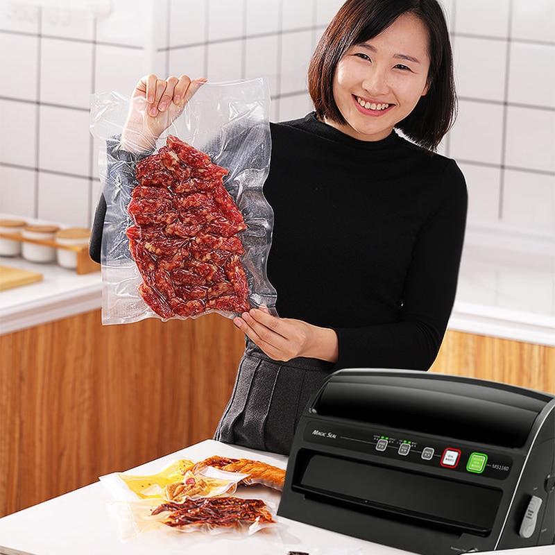 ماكينة تغليف الفراغ الصغيرة التجارية المنزلية البلاستيك ختم آلة الختم الحفاظ على الغذاء آلة الختم
