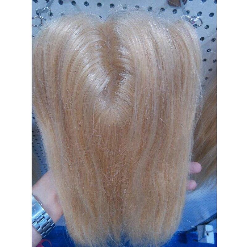 """18 pulgadas Color rubio 613 # seda Base cierre recto (5 """"* 5"""") 100% productos para el cabello humano con cierre de encaje suave, envío gratis"""