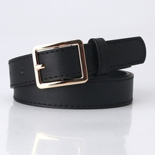 Fashion Gold square Buckle Wide Waist Belts for Women PU Leather Ladies Dress Jeans Belt Strap Brown