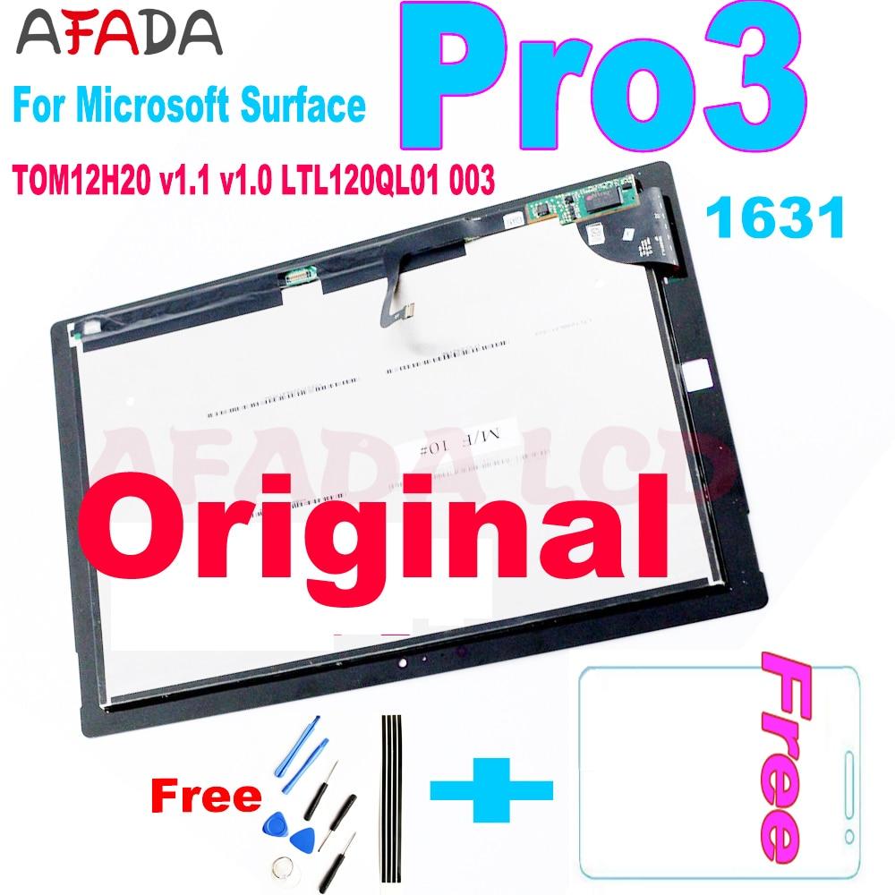 Original Lcd For Microsoft Surface Pro 3 1631 LCD Display Touch Screen Digitizer TOM12H20 v1.1 v1.0 LTL120QL01 For Pro3 LCD