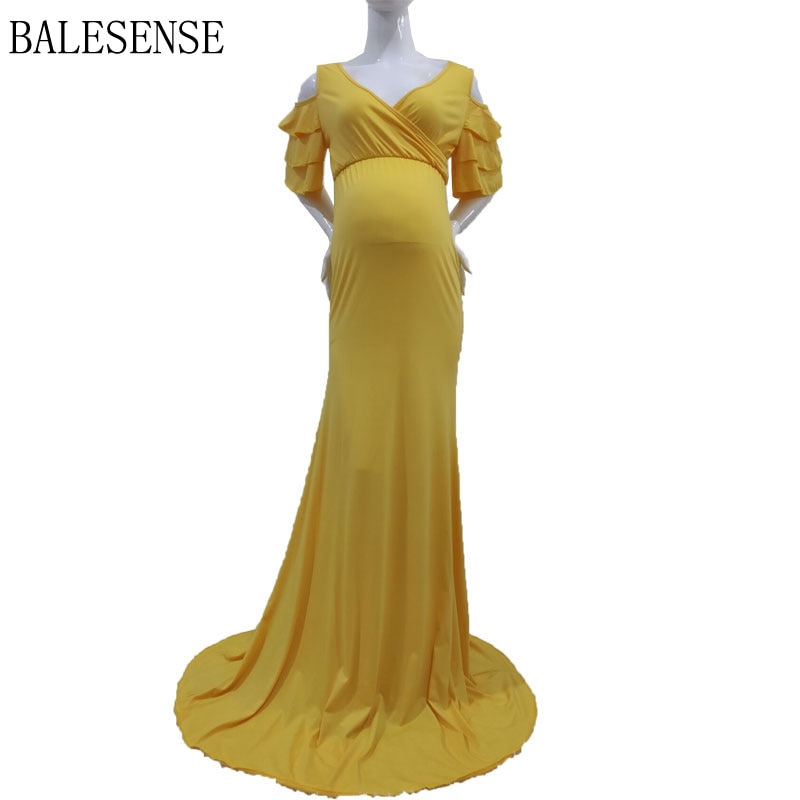 Maternity Maxi Dresses for Photo Shoot Sexy Off Shoulder Ruffles Pregnancy Photography Clothes Pregnant Women Dress Baby Shower enlarge