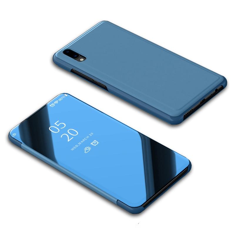 Vivo V11 funda V11i cubierta de lujo inteligente transparente vista espejo de cuero Flip Stand funda para Vivo V11 Pro carcasa de teléfono funda Coque