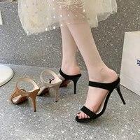 womens loafers summer fashion high heels sandals slides woman wedges footwear 2021 female beach flops shoes 34 35 36 37 38 43