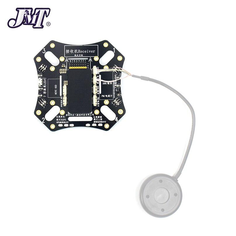 Placa de Control de vuelo JMT para cuadricóptero F450 integrado APM, tablero superior de Control de vuelo, luz LED de desbloqueo GPS para Dron