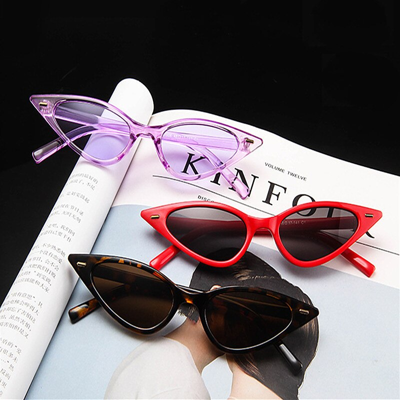 1pc Vintage Black Cat Eye Sunglasses Women Fashion Brand Designer Mirror Small Frame Cateye Sun Glasses For Female Shades Uv400 Buy At The Price Of 1 02 In Aliexpress Com Imall Com