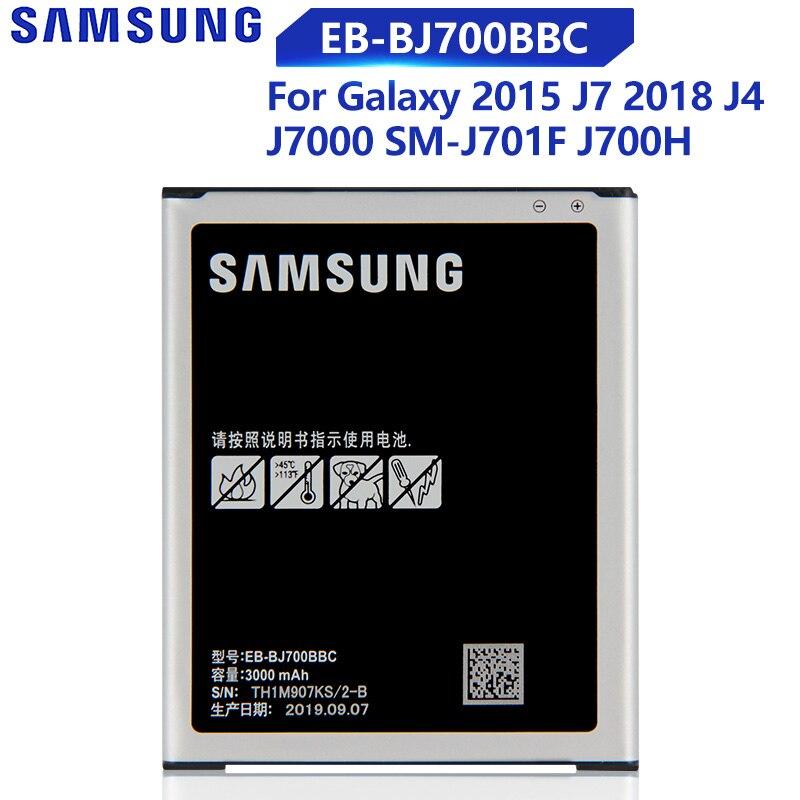 Original Phone Samsung Battery For Galaxy J7 2015 J7009 J7000 J7008 J700F SM-J700f  J4 2018 EB-BJ700BBC EB-BJ700CBE 3000mAh