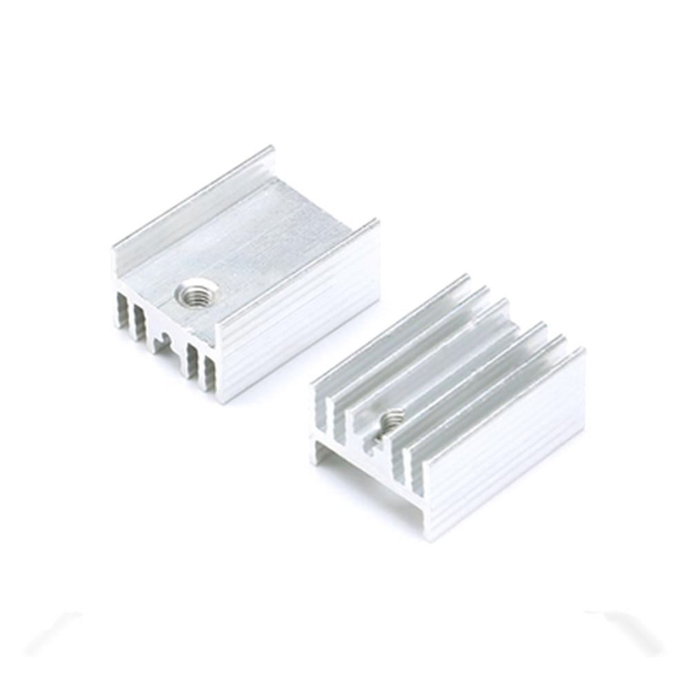Фото - Охлаждающий радиатор TO-220, 10 шт., алюминиевый лист, радиатор, транзистор, радиатор, радиатор, охлаждающие силиконовые прокладки для ПК радиатор