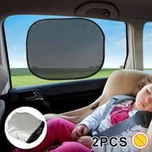 2 Stuks Car Side Front Back Window Zonneschermen Ogen Vizier Bescherming Shield Kids Baby Cover Anti-Uv Auto Mesh Zon Shades