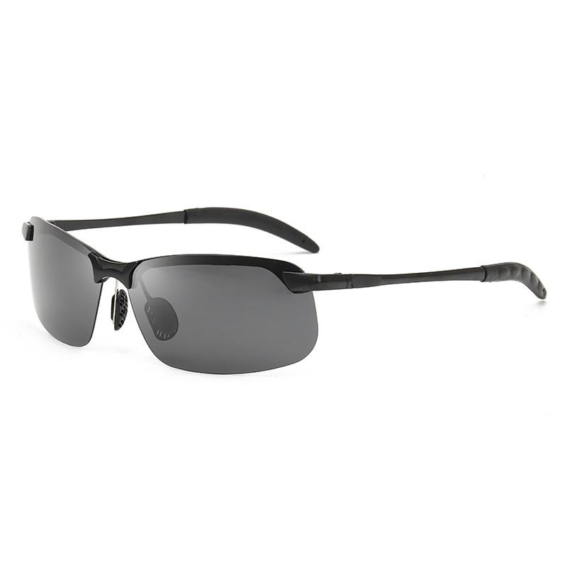 Polarized Photochromic Sunglasses Men Driving Rectangle Chameleon Change Color Sun Glasses Day Night