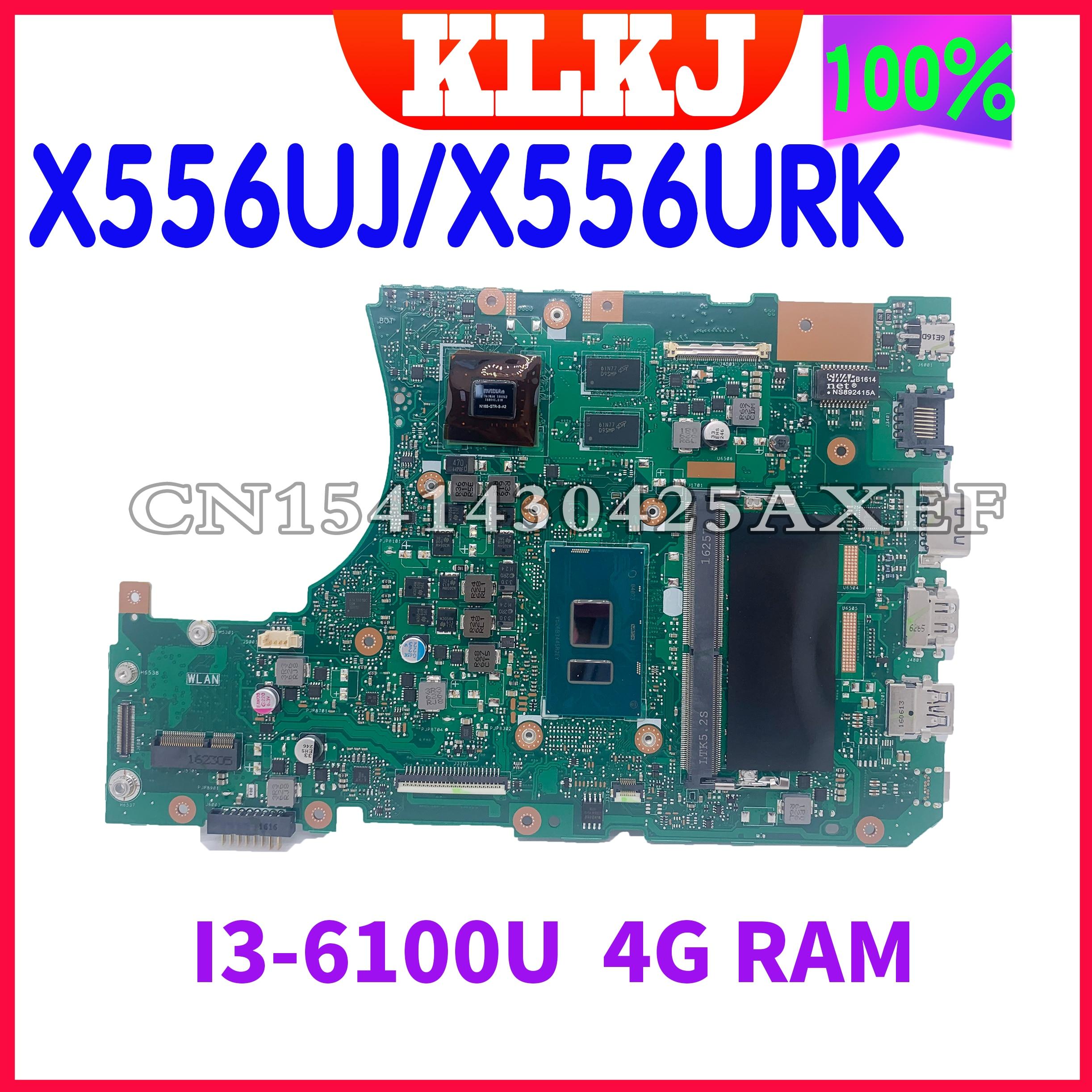 Dinzi جديد X556UV اللوحة لابتوب ASUS X556UV X556UR X556UB X556U X556UQK اللوحة الأصلية 4GB-RAM I3-6100U GT940MX-2G