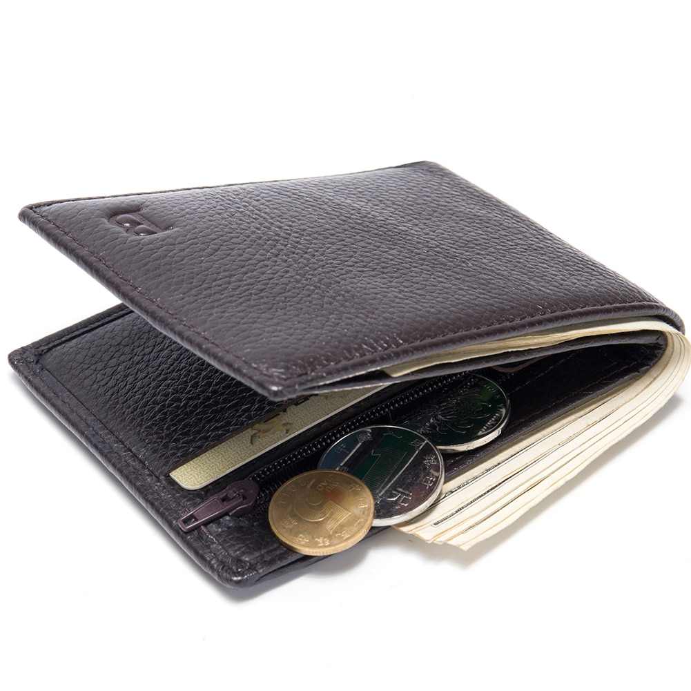High Qualty Leather Purse Male Rfid Short Wallet Multifunction Storage Bag Coin Purse Wallet's Card