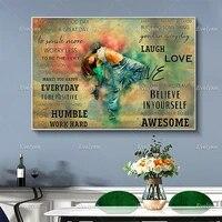 Affiche de danse et de danse Hip Hop  imprimes dart muraux  decor de maison  cadre flottant en toile