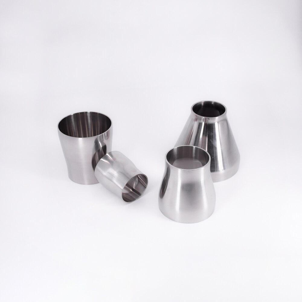 89/102/108/114/129/133/159mm od butt solding redutor concêntico sus304 inoxidável encaixe de tubulação sanitária homewbrew