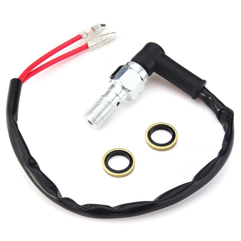 Motorcycle Hydraulic Brake Pressure Light Switch Banjo Bolt 10mmx1.25Pitch For Single Line Hydraulic Brake System