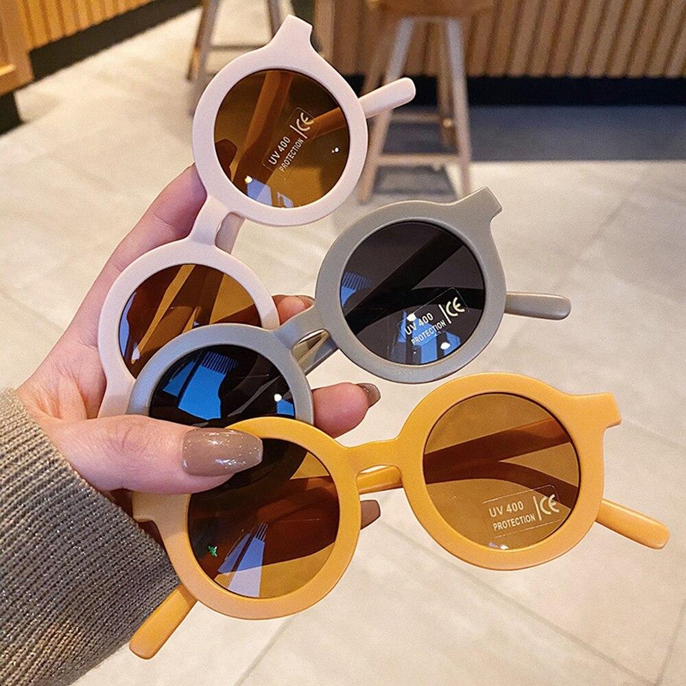 AliExpress - 2021 Boy Girl Cute Cartoon Bear Shape Sunglasses Children Vintage Sun Glasses Round UV Protection Kids Baby Eyewear Gafas De Sol