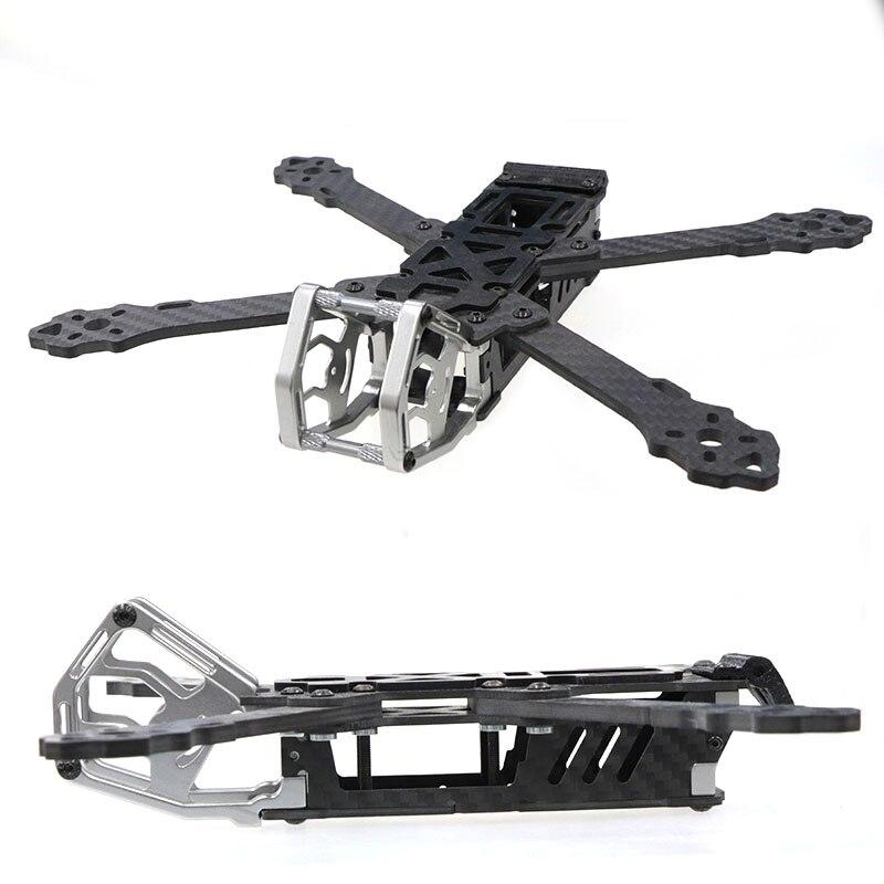 Hskrc kt5 5/6/7 polegada de fibra carbono com 4mm braço suporte 5 polegada hélice para fpv racing drone