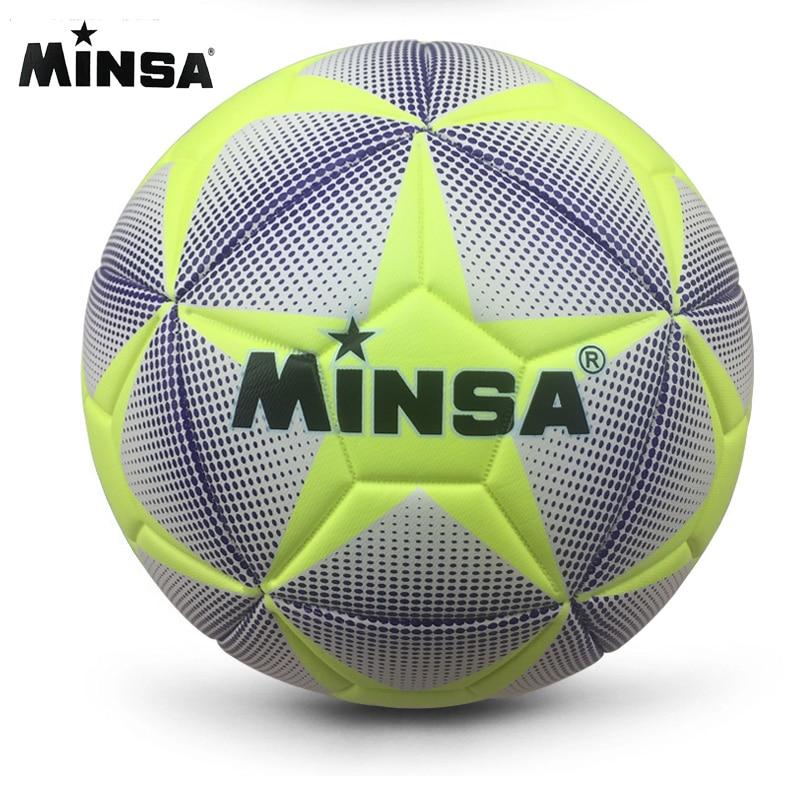 Новый бренд MINSA, высококачественный Стандартный Футбольный Мяч A ++, тренировочные мячи из искусственной кожи, футбольные мячи официального ...
