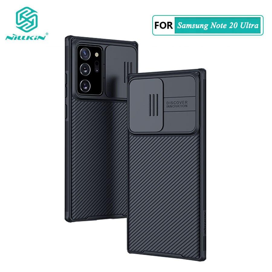 Para samsung nota 20 ultra caso nillkin slide câmera proteção caso para samsung galaxy note 20 note20 ultra 5g capa de proteção