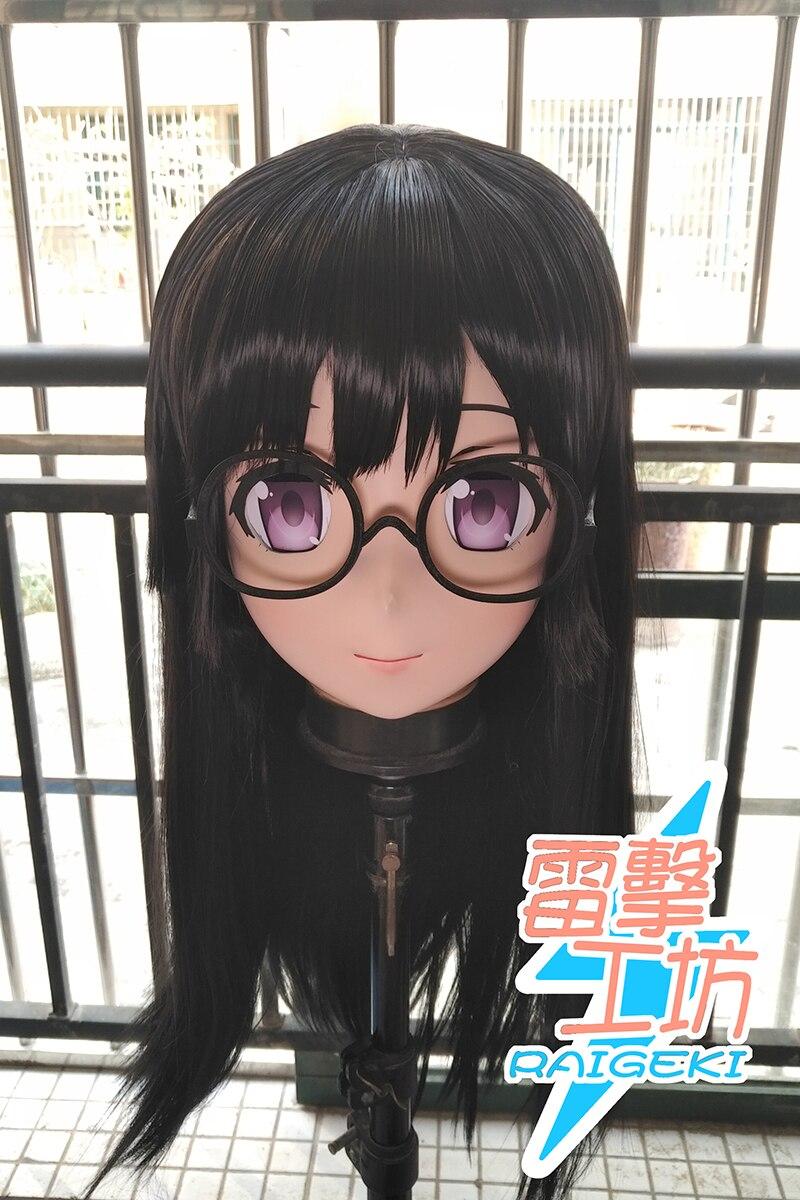 (RAIGEKI MAKS 10) Resin 3/4 Head Female/Girl Kigurumi Anime Cosplay Masks Crossdress Japan Role Lolita Crossdresser DOLL BJD Cos