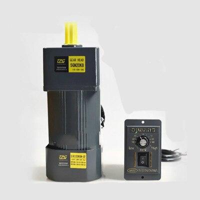 Motor de velocidad de engranaje de 180W 220V AC/motorreductor 5IK120RGN-CF Motor + regulador de velocidad