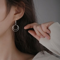 [Miss Z] round Ring Earrings 2021 New Fashion Design Sense Earrings South Korea Elegant Internet Popular Earrings Hot Sale