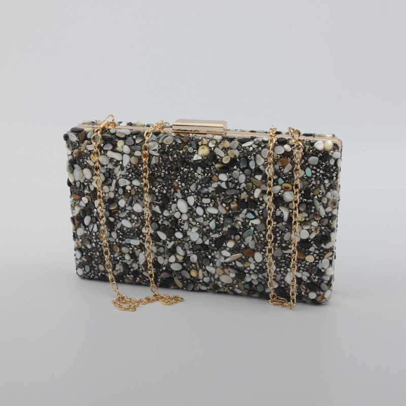 Fashion Colorful Crystal Stones Clutch Bag Evening Clutch Bags Chain Bridesmaid Bag Wedding Party Handbags Wallet Purses