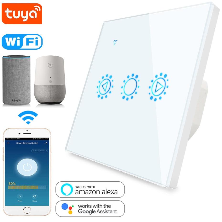 Interruptor inteligente WIFI Interruptor táctil de iluminación regulable 3 posiciones 220V 110V Dimmer Control remoto por Tuya App Wrok con Alex Google