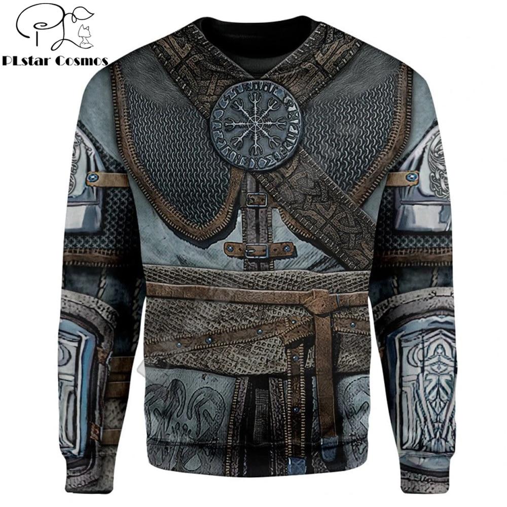 Viking Odin Tattoo 3D Print Sweatshirt For Men/Women Knights Armor Harajuku Cosplay Long sleeve pullover Casual sudadera hombre