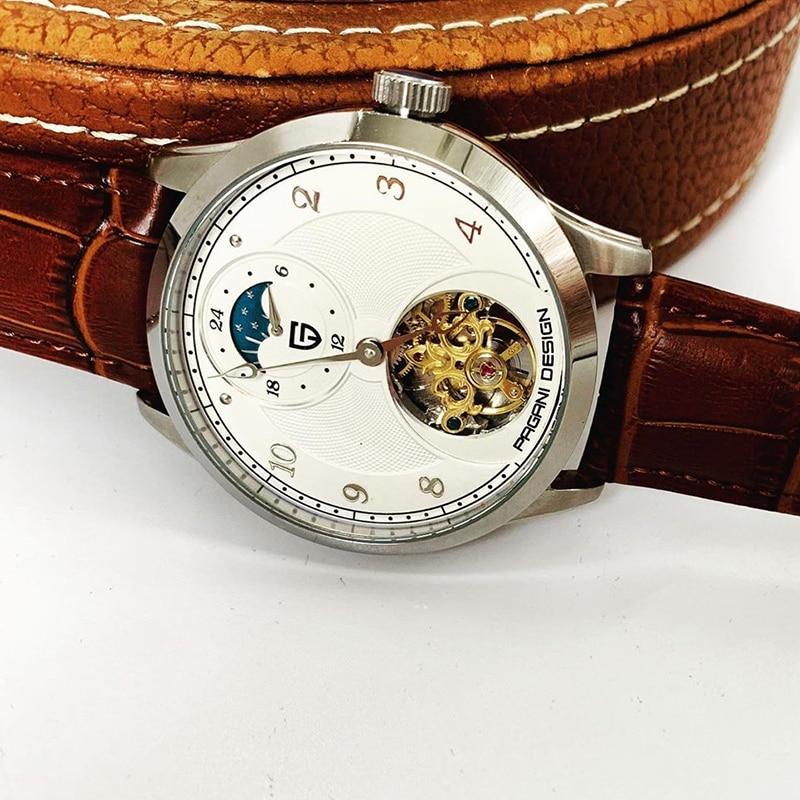PAGANI تصميم توربيون ساعة أوتوماتيكية الرجال الموضة الميكانيكية ساعة معصم العلامة التجارية الفاخرة مقاوم للماء ساعة Relogio Masculino