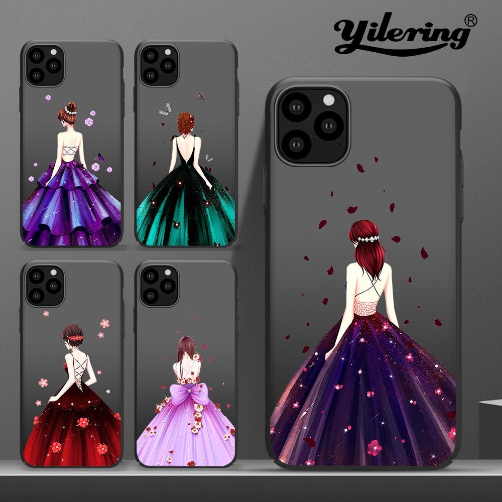 Boda moda mujer para apple iPhone 11 Pro max funda suave TPU funda para iPhone XR 6 6S 7 8 Plus XS Max X 5 5S SE 11 funda