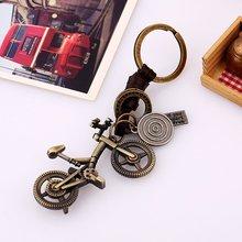 Lindo creativo bicicleta Mini Metal dados colgante llavero con anilla de llavero perfecto recuerdo Opción de regalo