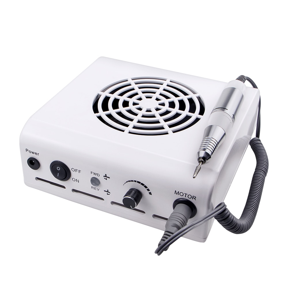 80W 2-IN-1 35000RPM Nail Drill Machine & Nail Vacuum Cleaner Manicure With Powerful Fan Manicure Ped