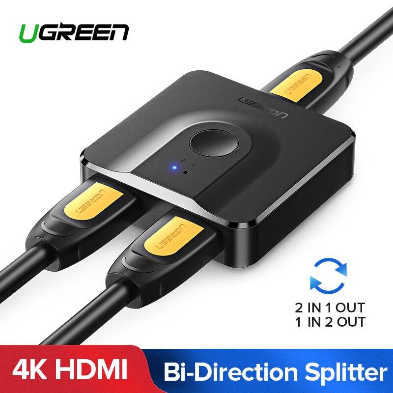 Ugreen Hdmi Splitter 4k Hdmi Switch For Xiaomi Mi Box Bi Direction 1x2 2x1 Ebay