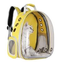 2021portable pet carrier bag breathable cat bag outdoor travel backpack for cat and dog transparent space pet backpack bag for