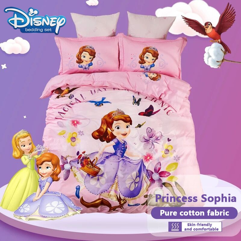 ديزني الكرتون الأميرة صوفيا غطاء لحاف من القطن لينة 200x230 سنتيمتر لصبي مجموعة تغطية مبطنة 3 قطعة تشمل 2 قطعة pillowsham لغرفة النوم