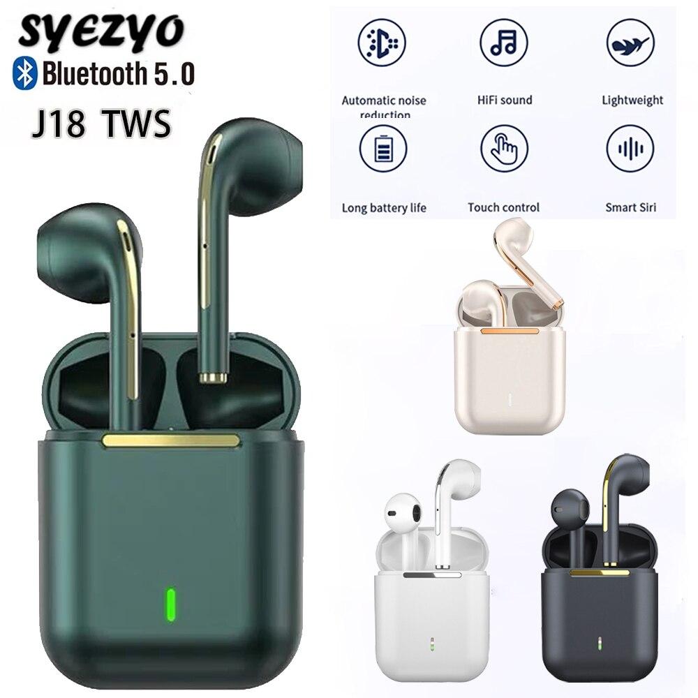 سماعة موسيقى بلوتوث J18 TWS ، سماعات رياضية مقاومة للماء ، سماعة صوت محيطي ، لهواوي ، آيفون ، شاومي