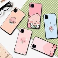 prime lovely apeach cacao friend phone case for iphone 5 se 2020 6 6s 7 8 plus x xr xs 11 12 mini pro max fundas cover