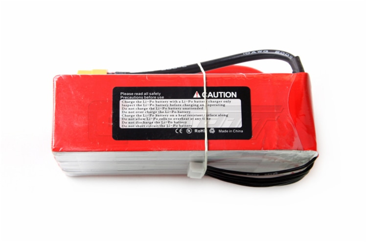 YPG 22.2V 5200mAH 40C 6S Lipo Battery Pack For Multi-Rotors / Trex 600-700 Helicopter / EDF Jets enlarge