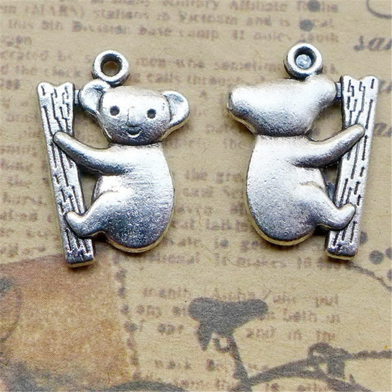 5 Cute Koala Charms 14*20MM Animal Charms Cowra Pendant for Jewelry Making  - buy with discount