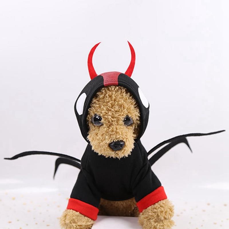 Decoraciones de Halloween para perros y mascotas, disfraz divertido de araña Cosplay, abrigo cálido para perros, chaqueta con capucha N06