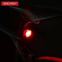 Gaciron w07r nova luz traseira da bicicleta usb recarregável ipx4 à prova dwaterproof água luz da cauda mtb 4 modos ciclismo aviso lanterna traseira