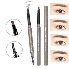 Lasting Make Up Brush 4 ColorsEnhancer Pen 3D Eyes Makeup Set Brown Matte Eyebrow Pencil Womens Eye